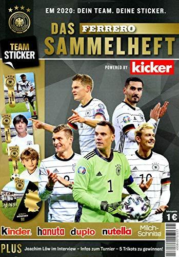 Ferrero Sammelalbum Sammelheft leer 2020 Team EM Dein Team Deine Sticker Neu Kinder