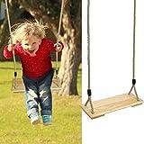 RecoverLOVE Hängende Baumschaukeln, hängende hölzerne Baumschaukelsitze im Freien, geeignet für Kinder Spielen im Innen- und Außenbereich (Brett und Seil inklusive)
