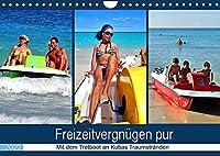 Freizeitvergnuegen pur - Mit dem Tretboot an Kubas Traumstraenden (Wandkalender 2022 DIN A4 quer): Tretboot-Touren an der kubanischen Kueste (Monatskalender, 14 Seiten )