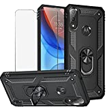 BestShare For Moto E7i Power Case with Tempered Glass
