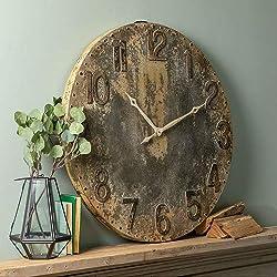 Cooper Classics Bartolo Rustic Gray Wall Clock