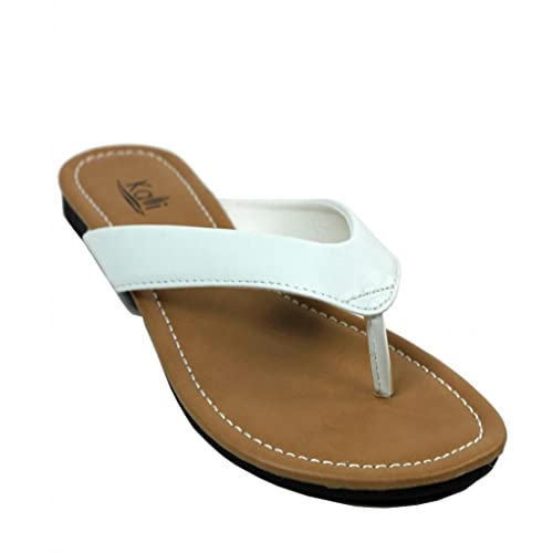 Kali Footwear Women s Cocoa Flat Thong Sandals 2cd48ca41