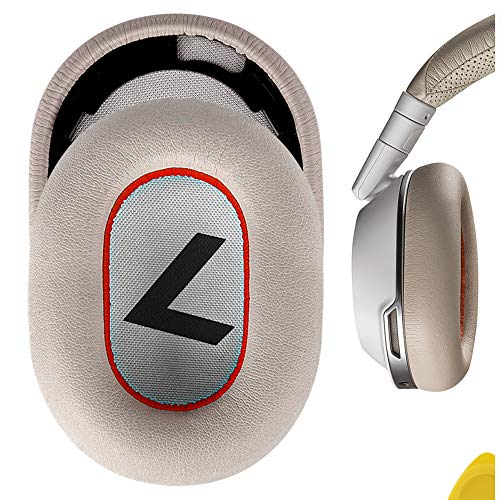 Geekria QuickFit Protein PU Coussinets d'oreille pour Plantronics BackBeat Pro 2, BackBeat Pro 2 Special Edition, Voyager 8200 UC, Casque de Rechange pour oreillette/Housse (Blanc-Rouge)