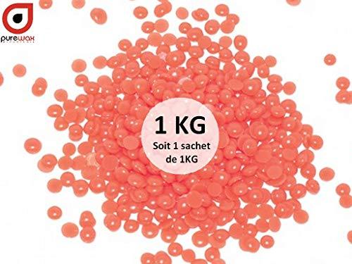 Perles de cire ROSE à épiler pelable PUREWAX By Purenail- sachet de 800gr+200gr GRATUIT, soit 1kg, TOP PROMO