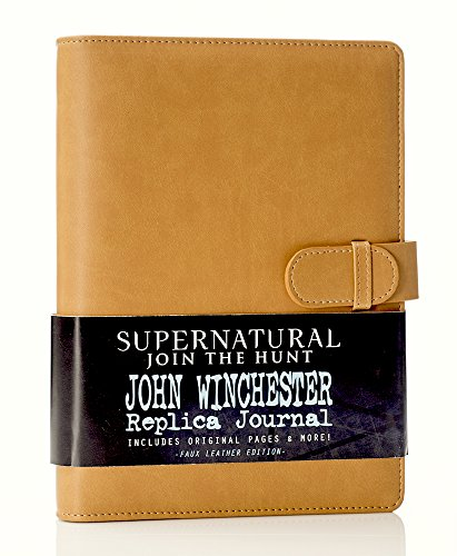 Supernatural John Winchester's Journal, Official Replica From Supernatural, Includes Faux Leather Journal With Official Diary Entries, Notes and Sketches, Biggerson's Turducken Ad, Mystery Spot Brochure and 5 News Articles