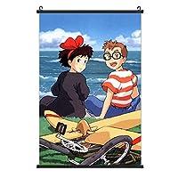 魔女の宅急便. ポスター掛け ファッション 3 Dプリント インテリアアート壁 ポスター 室内日本 壁の装飾 装飾画 アートポスター 壁画の装飾 絵を掛ける