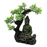#N/A/a Artesanías Musgo Zen Buda Estatua Acuario Hideout pecera paisajismo Escena Refugio pecera decoración del hogar de los Reptiles
