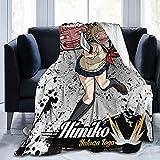 My Hero Academia Poster Himiko Toga Mantas para sofá, suave y cálida franela para viajes, camping, hogar, ropa de cama, sala de estar, 80 x 60 pulgadas