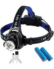 Zredurneyヘッドライト USB充電式 PSE認証済み18650バッテリー付き センシング付き 夜釣り作業用