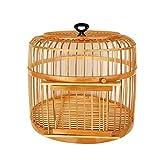Jaulas para pájaros Anillo de suspensión superior de bambú de jaula de pájaro hecho a mano Adecuado para suministros de aves ornamentales para al aire libre 2 colores diámetro 3 9CM Jaula de pájaros J