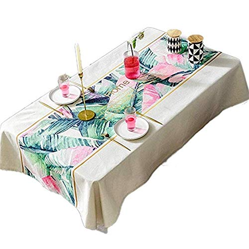 YUBIN Tablecloth Small Fresh Waterproof Pastoral Light American Cotton Linen Table Cloth Round Table Living Room Table Cloth Fabric Coffee Table mat Tablecloth (Size : 110170cm) (Size : 140 * 220cm)