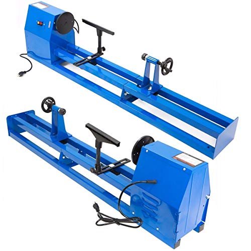 "XtremepowerUS 1/2HP 4 Speed 40"" inch Power Wood Turning Lathe (14"" x 40"") Benchtop Wood Lathe Adjustable Speed"