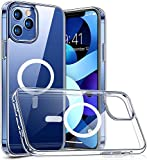 Clear Magnetic Protective Cover Shell Mag Safe All-inclusive Protective Cover Is Safe For Apple Iphone 12 Pro Max 12 Mini 12 Pro, (Transparent, Apple iPhone 12 Pro Max)