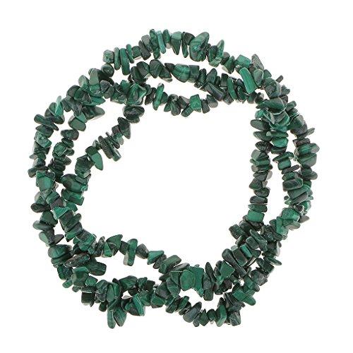 harayaa Cuentas de Piedras Preciosas de Viruta de Malaquita Natural Hebra 36 en