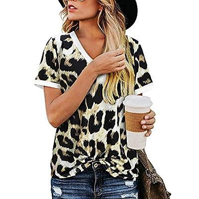 Damen Sommer Tshirt Leopard