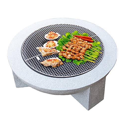 LDIW Feuerschale für Garten und Terrasse Außen Feuerstelle Schüssel mit Grill Multifunktional Fire Pit für Heizung/BBQ