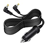 SupplySource Dual DC 2 Car Charger Cord for RCA DRC97983 DRC99731 Twin Two Screen DVD Player