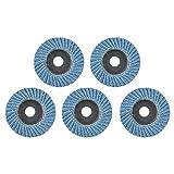 Disco abrasivo 5 pezzi da 2 pollici 50 mm Disco per lucidatura a lamelle Lama per mola per smerigliatrice angolare Disco abrasivo per grana 80-_5 pezzi blu
