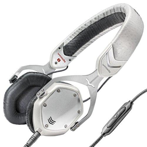 V-MODA Crossfade M-80 Vocal On-Ear Noise-Isolating Metal Headphone, White Silver