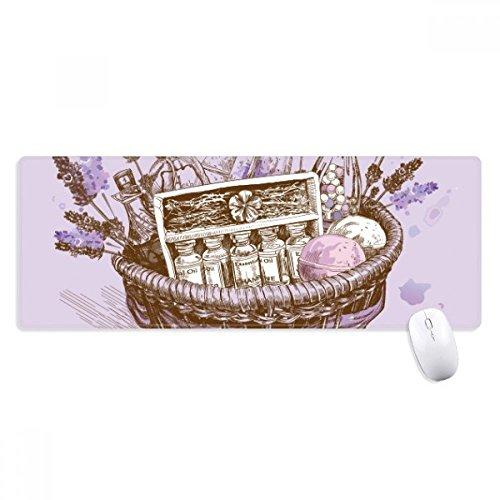 Bloemen Plant Schilderij Present lavendel Mand Niet-lip Mousepad Grote Verlengd Game Office getiteld Randen Computer Mat Gift