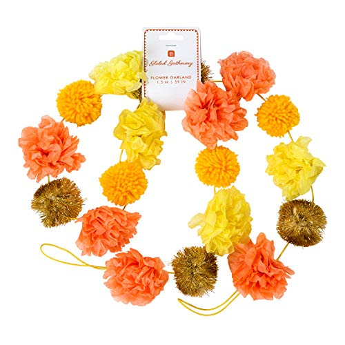 Talking Tables Boho Pom Garland Inspired by India 1.5 metres, Spice GRLAND