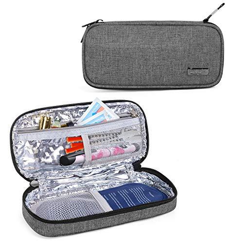 Luxja Insulin Kühltasche für Unterwegs, Insulintasche für Insulinpen und Diabetiker Zubehör (Nur Tasche), Grau