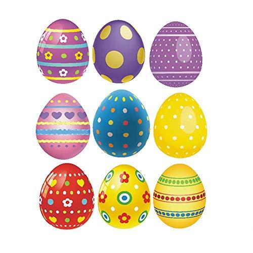 Melunda1X Sticker mural pour décoration murale Motif œuf de Pâques