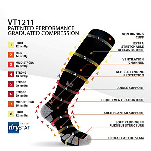 Vitalsox Italy-Patented Compression VT1211,Large,Black