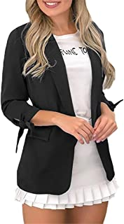FANGTION Womens Ladies Solid Turn Down Collar Jacket Long Sleeve Coat Pocket Outerwear