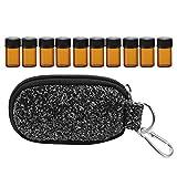 10 ranuras 2ml Bolsa de aceite esencial para la bolsa de almacenamiento Organizador Bolsa de almacenamiento(4# con botella)