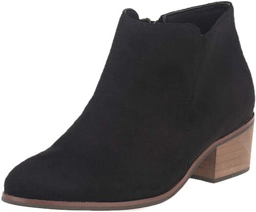 ZHRUI Stiefel de tacón Alto de Cuero para damen Stiefel Retro Casuales (Farbe   2, tamaño   38EU)