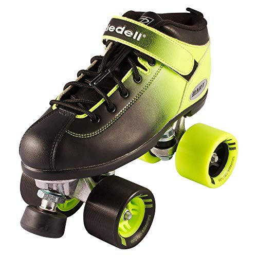 Riedell Skates - Dart Ombré - Quad Roller Speed Skate | Green & Black | Size 4