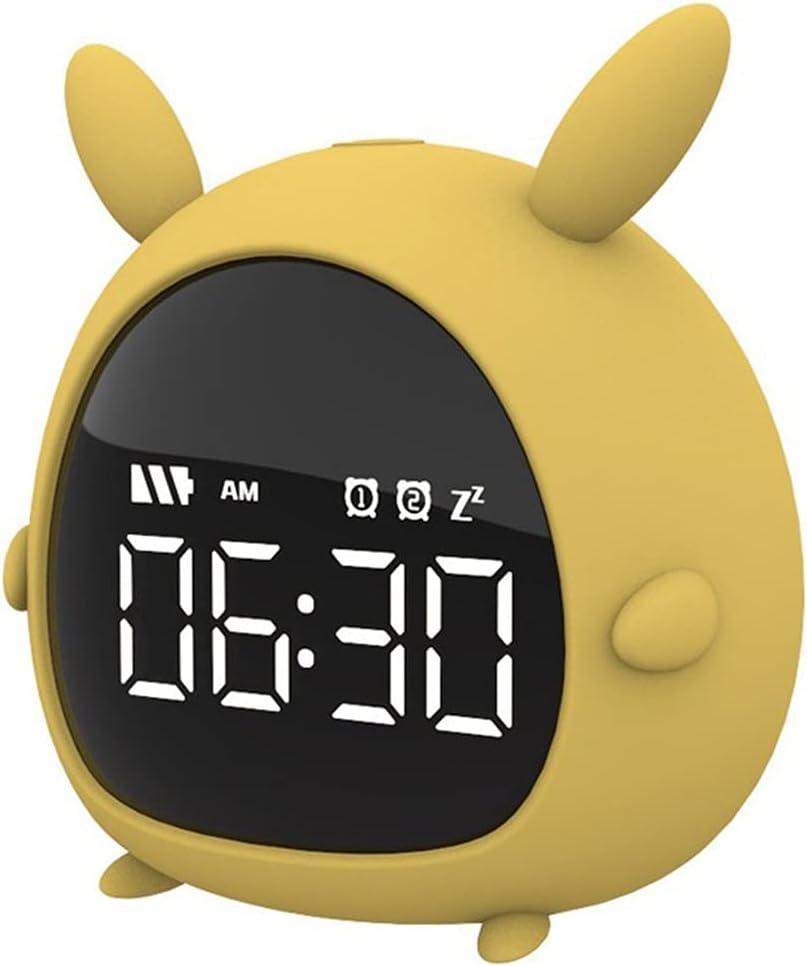 Opening large release sale Washington Mall DJASM ZZWZM Hot Yellow Cute Children Digital Smart Alarm Clo Led