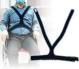 TARSHYRY CinturóN para Silla de Ruedas, CinturóN de FijacióN para Silla de Ruedas CinturóN Transpirable EláStico Antideslizante para Ancianos CinturóN de SujecióN Abdominal