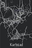 Karlstad: Journal de Voyage   120 pages lignées   Cadeau parfait pour les amoureux de voyages   Format 15,2 x 22,9 cm   Carte Noir et Blanc   Karlstad Suède