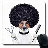 Jamron Mousepad Oblong 7.9x9.8 Inches Hairdresser Scissors Comb Haircut Hairstyling Care Dog Animals Wildlife Beauty...