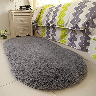 YOH Super Soft Area Rugs Silky Smooth Bedroom Mats Children Play Rug for Living Room Kids Room for Boys Girls Room Dormitory Kids Room Home Decor Carpet 2.6' x 5.3'(Grey)