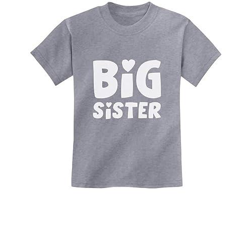Happy Girl Perfect Sibling Gift Idea Kids T-Shirt Big Sis Gift Idea Big Sister