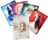 YQRX Diosa Power Oracle, Deck Mysterious Guidance Adivinación, Fate Tarot Tarjetas Juego de Mesa para Family Friend Gift (Bolsas, manteles)