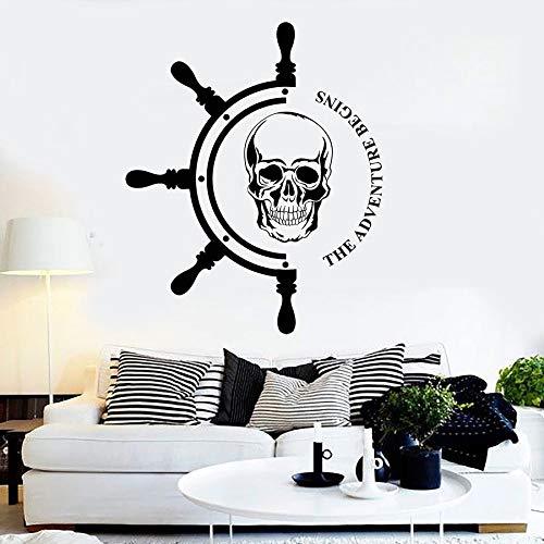 Tianpengyuanshuai muurstickers, avontuur-avontuur, boot stuur, zeildoek, piraat, vinyl, voor tienerkamer