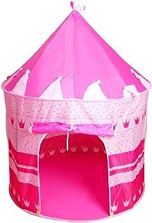 خيمة لعب للاطفال منبثقة بتصميم قلعة الاميرة، خيمة خارجية محمولة - لون وردي