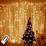 TAOPE Luces de cortina USB Impermeable 300 Led 3m * 3m Decoración exterior e interior con control remoto