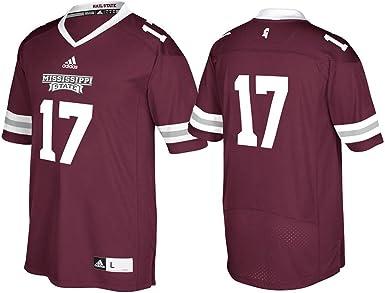 adidas Mississippi State Bulldogs NCAA Men's #17 Maroon Premier Football Jersey