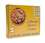 Healthy Bites Almond Cookies - Vegan, Gluten Free, No Maida, No Refined Sugar, Made of Pure Almond Butter & Almond Flour - 150 GMS