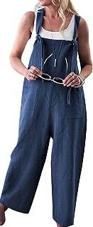 Women's Loose Suspender Trousers Wide Leg Overalls Jumpsuit Romper Harem Pants Plus Size