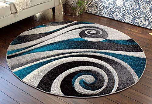 7 feet round area rug - 9