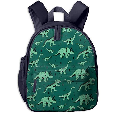 XCNGG Kids Backpack 3D Dinosaur Jungle Green Preschool Kindergarten Bags Rucksack Casual Daypack for Children Toddler Girls Boys Navy
