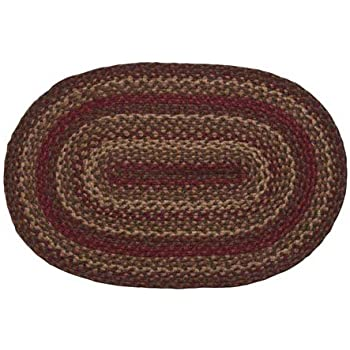 IHF Home Decor Vintage Star Diameter 36 x 60 Living Room Thick Multicolored Braided Area Rugs Oval Accent Floor Carpet for Office Porch 100/% Natural Jute Fabric Mat Dormitory