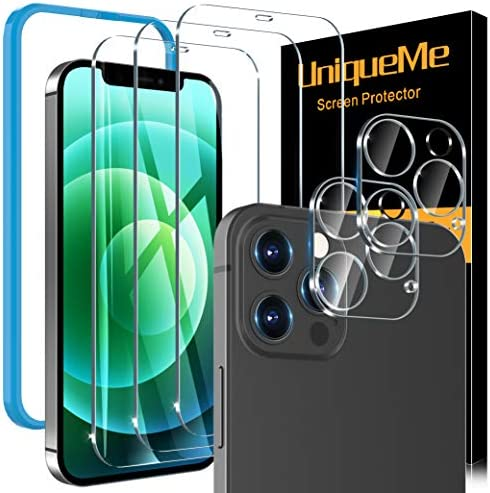 5 Pack UniqueMe Screen Protector Compatible With iPhone 12 Pro Max 6 7 Not for iPhone 12 Pro product image