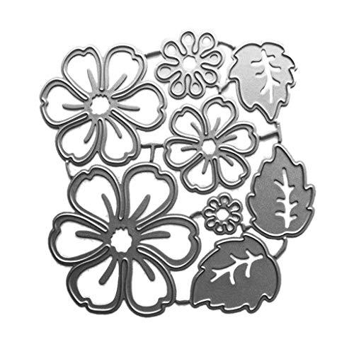 Ncbvixsw Blütenblätter DIY Stanzschablone, Metall Stanzformen Schablonen Scrapbooking Prägeschablonen, Handwerk Prägen Papier DIY Herstellung Geschenk Cutting Dies S